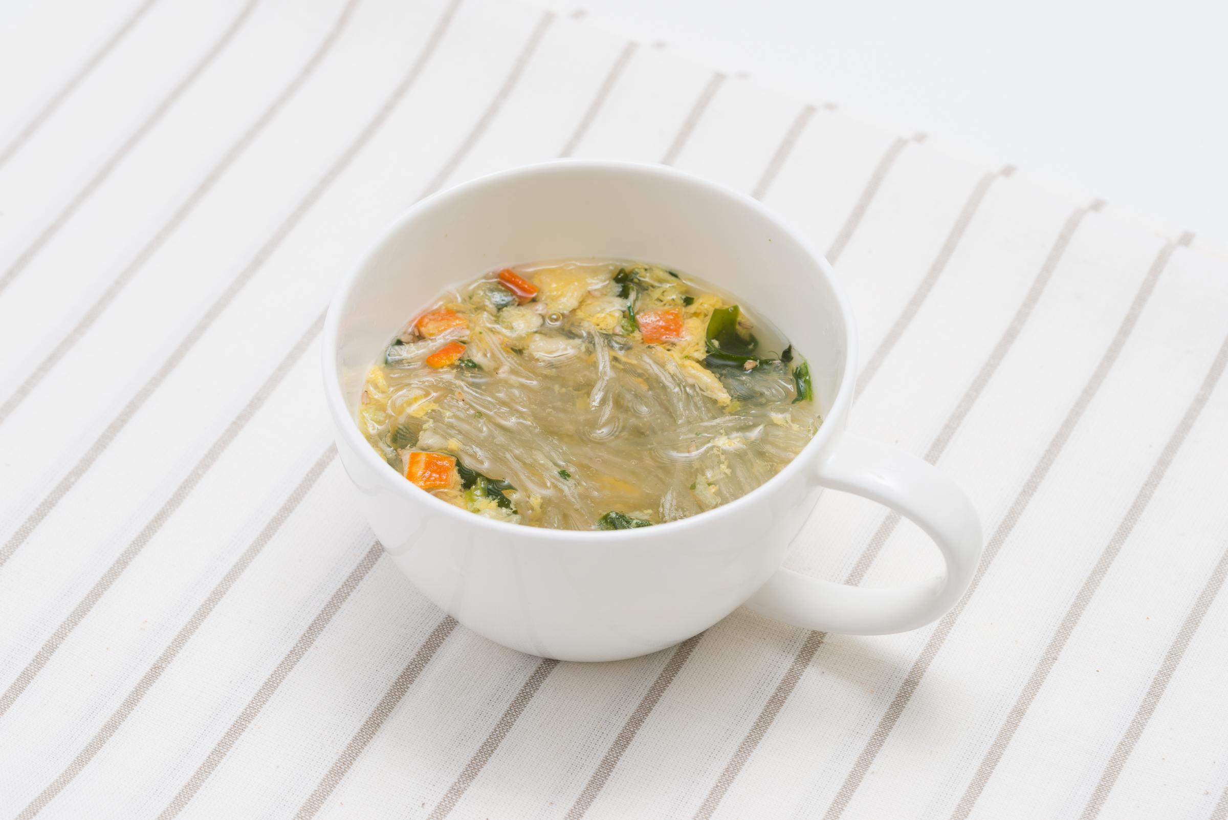 スープ野菜とたまごイメージ